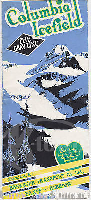 COLUMBIA ICEFIELD BANFF ALBERTA CANADA VINTAGE GRAPHIC ADVERTISING BROCHURE MAP - K-townConsignments