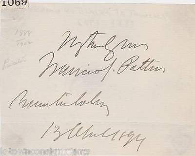FRANCIS PATTON PRINCETON UNIVERSITY PRESIDENT AUTOGRAPH SIGNATURE CLIPPING - K-townConsignments