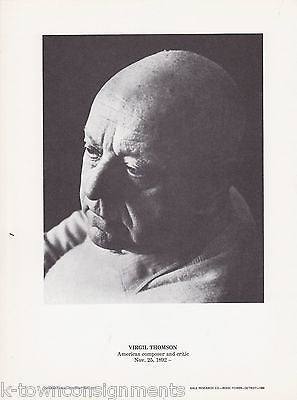 Virgil Thomson American Composer Vintage Portrait Gallery Poster Photo Print - K-townConsignments