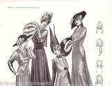 WOMEN IN LIGHT DRESS COATS VINTAGE 1920s GRAPHIC ART FASHION AD PRINT - K-townConsignments