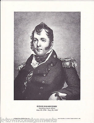 Oliver Hazard Perry US Navy Officer Vintage Portrait Gallery Poster Print - K-townConsignments