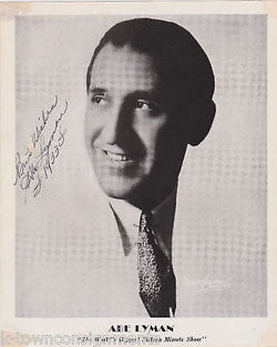 ABE LYMAN BIG BAND VINTAGE AUTOGRAPH SIGNED PHOTO 1933 - K-townConsignments