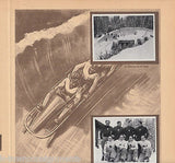 BOBSLED SKI LUGE OLYMPICS 1936 PHOTO CARDS POSTER PRINT - K-townConsignments