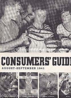 MILK & HOME GARDENS WWII HOME FRONT VINTAGE GOVERNMENT CONSUMERS' GUIDE 1941 - K-townConsignments