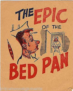 EPIC BED PAN POEM VINTAGE HOSPITAL NURSE DOCTOR HUMOR GRAPHIC ART GREETINGS CARD - K-townConsignments