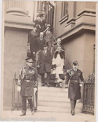 Calvin & Grace Coolidge Presidential Military Escort Antique News Press Photo - K-townConsignments