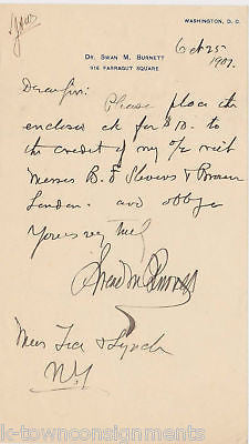 Dr. SWAN BURNETT ANTHROPOLOGY AUTOGRAPH SIGNED LETTER - K-townConsignments