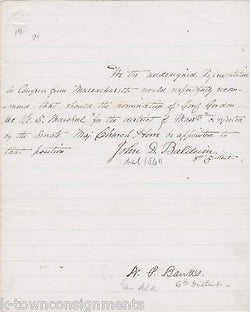 NATHANIEL BANKS CIVIL WAR GENERAL AUTOGRAPH SIGNED US MARSHALL RELATED LETTER - K-townConsignments
