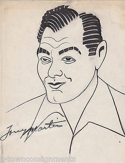 TONY MARTIN AMERICAN MOVIE ACTOR VINTAGE CARTOON CARICATURE ART SKETCH - K-townConsignments