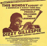 DIZZY GILLESPIE JAZZ MUSIC CONCERT 70th BIRTHDAY PROVINCETOWN POSTER FLYER - K-townConsignments