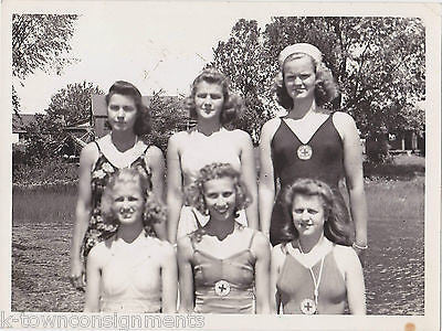 CAMP FIRE GIRLS USA LIFEGUARD TRAINING SWIMSUITS VINTAGE PROMO PHOTOS LOT - K-townConsignments