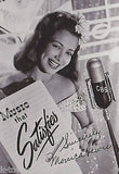 MONICA LEWIS CBS MUSIC SINGER VINTAGE AUTOGRAPH SIGNED STUDIO PROMO PHOTO - K-townConsignments