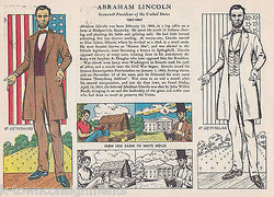 ABRAHAM LINCOLN FROM LOG CABIN TO WHITE HOUSE VINTAGE GRAPHIC ILLUSTRATION PRINT - K-townConsignments