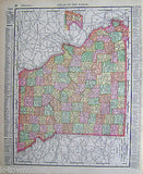 Missouri State Antique 1898 Graphic Illustration Map Atlas Print - K-townConsignments