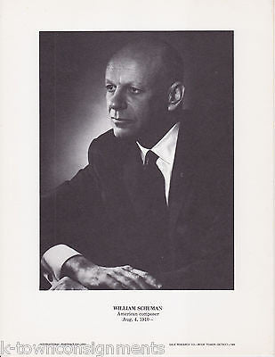 William Schuman American Composer Vintage Portrait Gallery Poster Photo Print - K-townConsignments