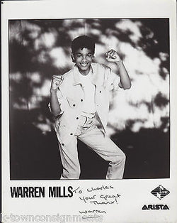 WARREN MILLS ARTISTA JIVE R&B MUSIC VINTAGE AUTOGRAPH SIGNED STUDIO PROMO PHOTO - K-townConsignments
