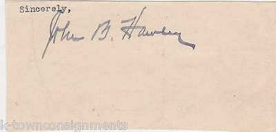 JOHN HAWLEY CIVIL WAR CAPTAIN ILLINOIS CONGRESS POLITICIAN AUTOGRAPH SIGNATURE - K-townConsignments