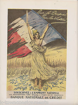 SOUSCRIVEZ A LEMPRUNT NATIONAL FRENCH VINTAGE WWI GRAPHIC ART POSTER PRINT - K-townConsignments