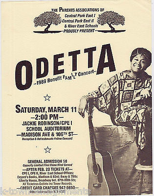 ODETTA CIVIL RIGHTS JAZZ MUSIC SINGER VINTAGE CENTRAL PARK CONCERT POSTER 1989 - K-townConsignments
