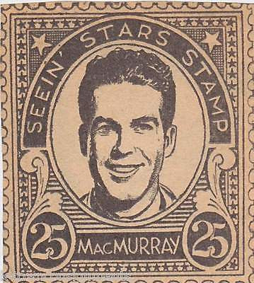 FRED MACMURRAY MOVIE ACTOR VINTAGE SEEIN STARS STAMP GRAPHIC PROMO CLIPPING - K-townConsignments