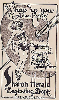 PIN-UP GIRL ORIGINAL CARTOON ART DRAWING SKETCH BY WWII PROPAGANDA ARTIST BRYAN - K-townConsignments
