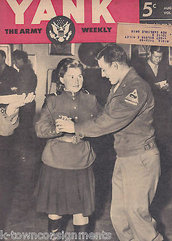 JEANNE CRAIN PIN-UP POWs JAPAN MAP & MORE WWII YANK MAGAZINE AUG 1945 - K-townConsignments