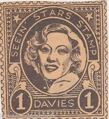 MIRIAM DAVIES MOVIE ACTRESS VINTAGE SEEIN STARS STAMP GRAPHIC PROMO CLIPPING - K-townConsignments