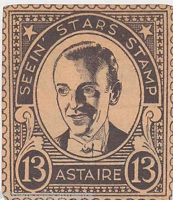FRED ASTAIRE MOVIE ACTOR VINTAGE SEEIN STARS STAMP GRAPHIC PROMO CLIPPING - K-townConsignments