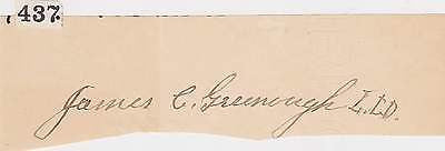 JAMES GREENOUGH NEW ENGLAND CHRISTIAN EDUCATION CHAMPION AUTOGRAPH SIGNATURE - K-townConsignments