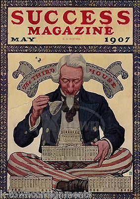 EXECUTIVE BRANCH WASHINGTON DC VINTAGE UNCLE SAM GRAPHIC ART MAGAZINE PRINT 1907 - K-townConsignments