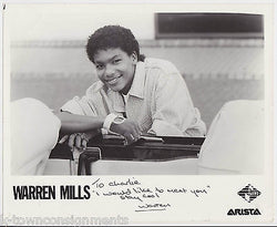 WARREN MILLS R&B MUSIC VINTAGE AUTOGRAPH SIGNED ARTISTA JIVE STUDIO PHOTO - K-townConsignments