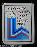 LAKE PLACID XIII WINTER OLYMPIC GAMES CAPITOL SPORTS GRAPHIC PROMO POSTER 1977 - K-townConsignments