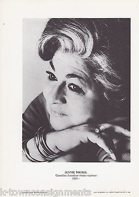 Jennie Tourel Canadian Mezzo Soprano Vintage Portrait Gallery Poster Photo Print - K-townConsignments