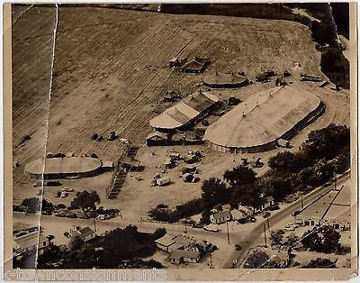 BIG TOP CIRCUS OKLAHOMA CITY VINTAGE LARGE AERIAL VIEW PHOTOGRAPH 1947 - K-townConsignments