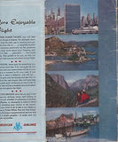 AMERICAN AIRLINES FLAGSHIP VINTAGE GRAPHIC ADVERTISING IN FLIGHT PACKET LOT - K-townConsignments