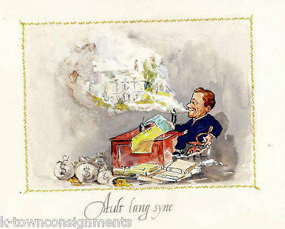 AULT LANG SYNE 'WORK IN PROGRESS' VINTAGE POLITICAL CARTOON PRINT - K-townConsignments