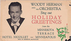 WOODY HERMAN ORCHESTRA VINTAGE CHRISTMAS AD FLYER - K-townConsignments