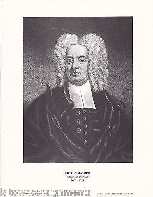 Cotton Mather American Puritan Vintage Portrait Gallery Poster Print - K-townConsignments