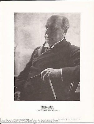 Henry James American Novelist Vintage Portrait Gallery Poster Photo Print - K-townConsignments