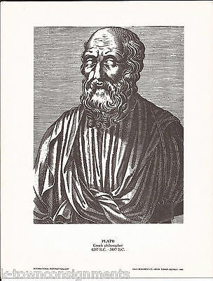 Plato Greek Philosopher Vintage Portrait Gallery Poster Sketch Print - K-townConsignments