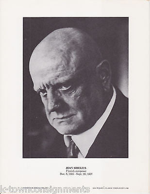 Jean Sibelius Finnish Composer Vintage Portrait Gallery Poster Photo Print - K-townConsignments