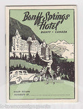 BANFF SPRINGS HOTEL CANADA VINTAGE GRAPHIC ADVERTISING MAP SOUVENIR BOOKLET - K-townConsignments