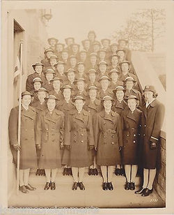 HUNTER COLLEGE BRONX NY WAVES WOMEN IN UNIFORM VINTAGE WWII IDed MILITARY PHOTO - K-townConsignments
