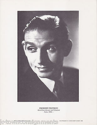 Frederic Franklin Dancer Director Vintage Portrait Gallery Poster Photo Print - K-townConsignments