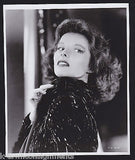 KATHARINE HEPBURN HOLLYWOOD MOVIE ACTRESS VINTAGE COY LOOK OVER SHOULDER PHOTO - K-townConsignments