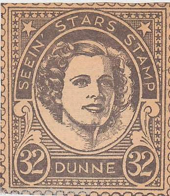 IRENE DUNNE MOVIE ACTRESS VINTAGE SEEIN STARS STAMP GRAPHIC PROMO CLIPPING - K-townConsignments