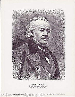 Honore Daumier French Painter Vintage Portrait Gallery Artistic Poster Print - K-townConsignments