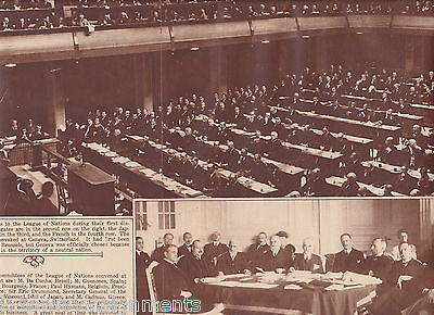 FIRST GATHERING LEAGUE OF NATIONS GENEVA WWI 1920s NEWS PHOTO POSTER PRINT - K-townConsignments