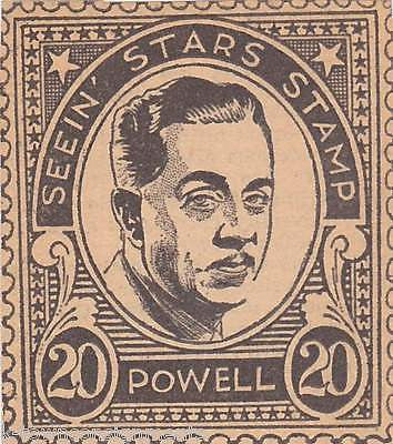 LEE POWELL MOVIE ACTOR VINTAGE SEEIN STARS STAMP GRAPHIC PROMO CLIPPING - K-townConsignments