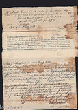 1840s MARYLAND JUSTICE OF THE PEACE ANTIQUE AFFIDAVIT POLICE COURT DOCUMENTS - K-townConsignments